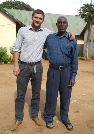 Dr Nick Tilbury+ Dr Gwambaaye at Nzega hospital
