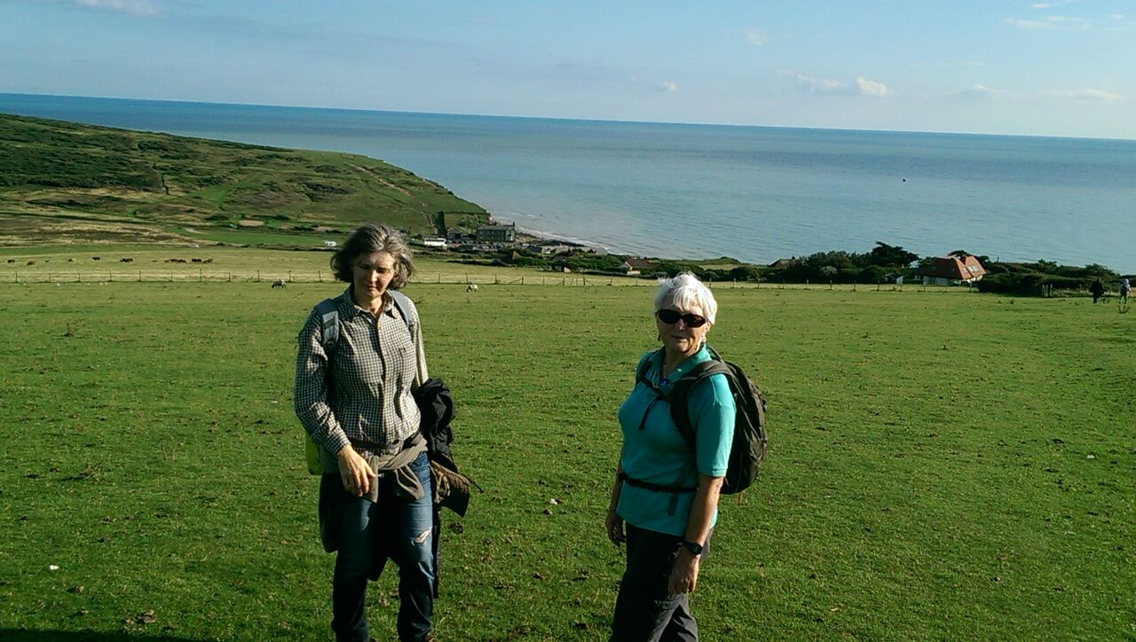 Downs - almost there, with Birling Gap in sight