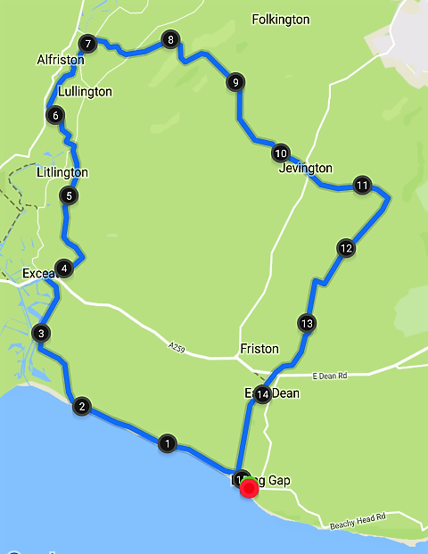 South Downs route