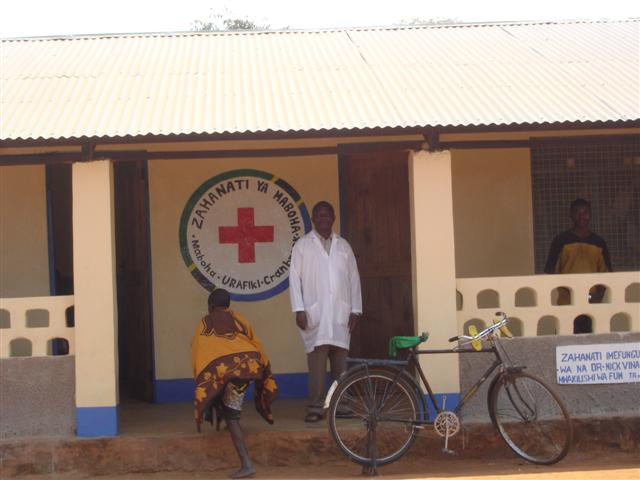 Medical Officer and mural at Maboha clinic