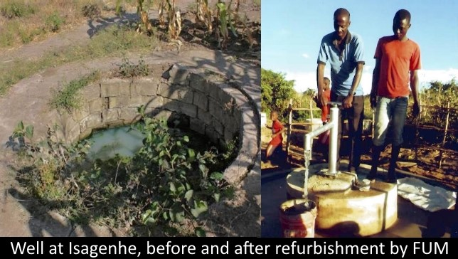 Water source before and after