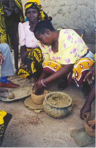 Making pots for market