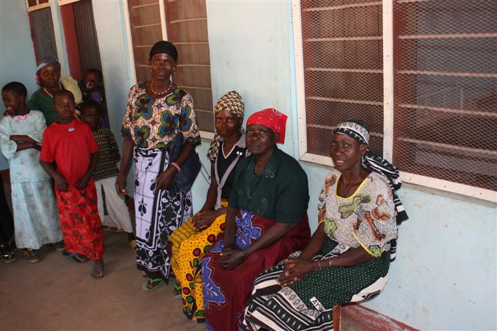 Ladies at newly re-decorated Mbooga clinic