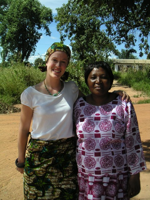 Dr Jo Minchin with Dr Masimba