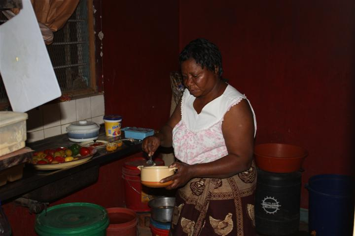 Mama Malyeli in Mwanhala FDC kitchen