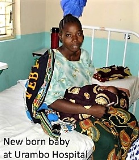 New born baby at Urambo Hospital