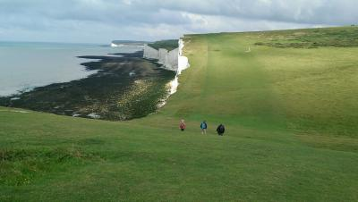 Downs - early on with a glorious view along the Seven Sisters