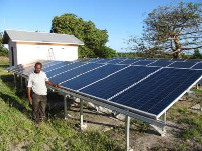 Solar power for borehole pump