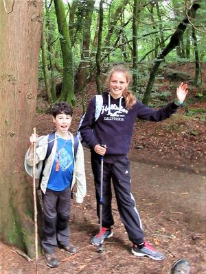 Youngest walkers at half way point in Tamar Trails