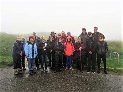 Damp, misty start at Kit Hill