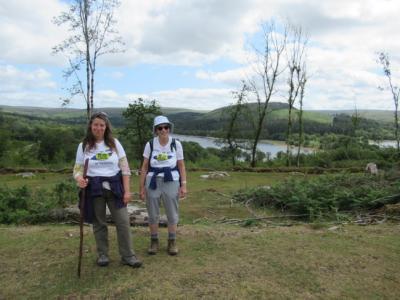 Lesley and isabel beside Burrator Rervoir