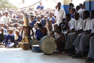 Imeli School drummers