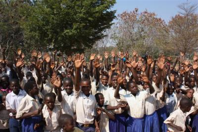 Pupils at Nyasa 2 school in Nzega