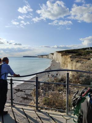 Looking back along the coast to Seaford after returning