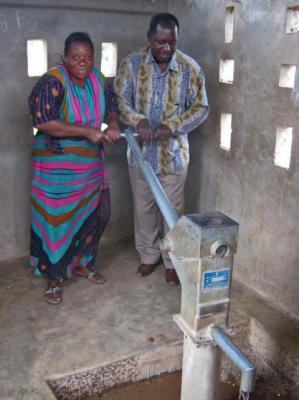 Mwanhala borehole temporary hand pump