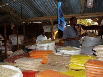 Nzega market stall