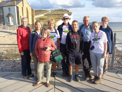 At last – tired but triumphant back at Birling Gap