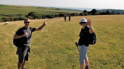Gary and Isabel as Birling gap reappears
